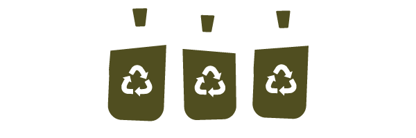 Illustration of bottle jugs of recyclable canola oil
