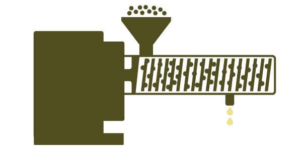 illustration of oil press